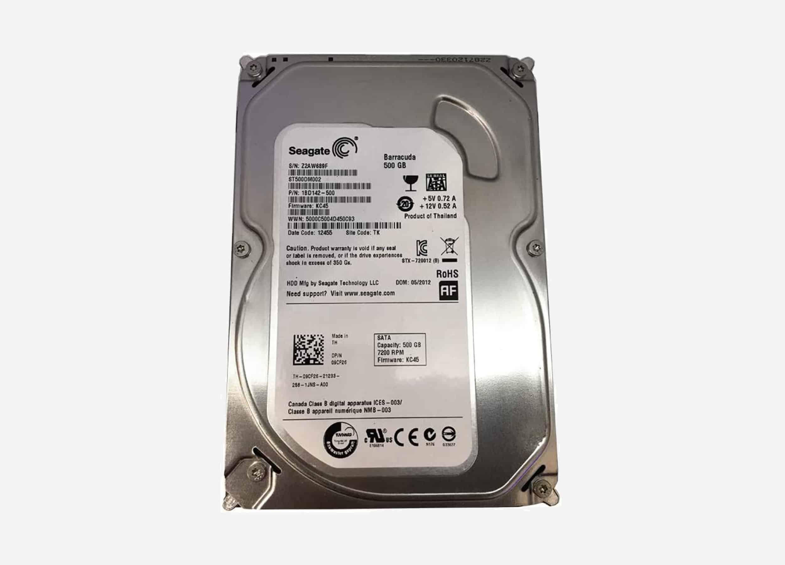 HDD Seagate BarraCuda 500 GB Pc 3.5