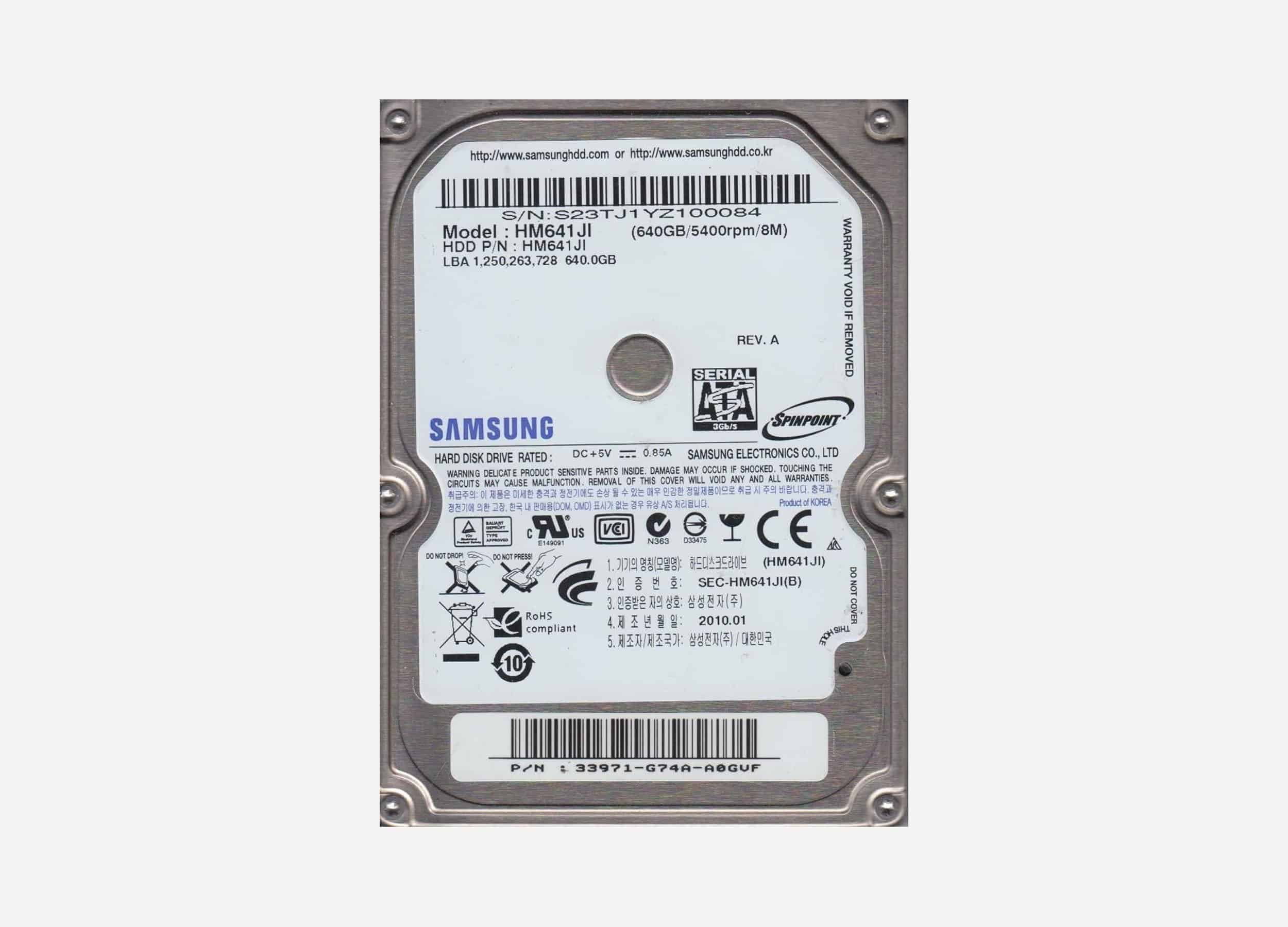 HDD Lap Samsung 640GB