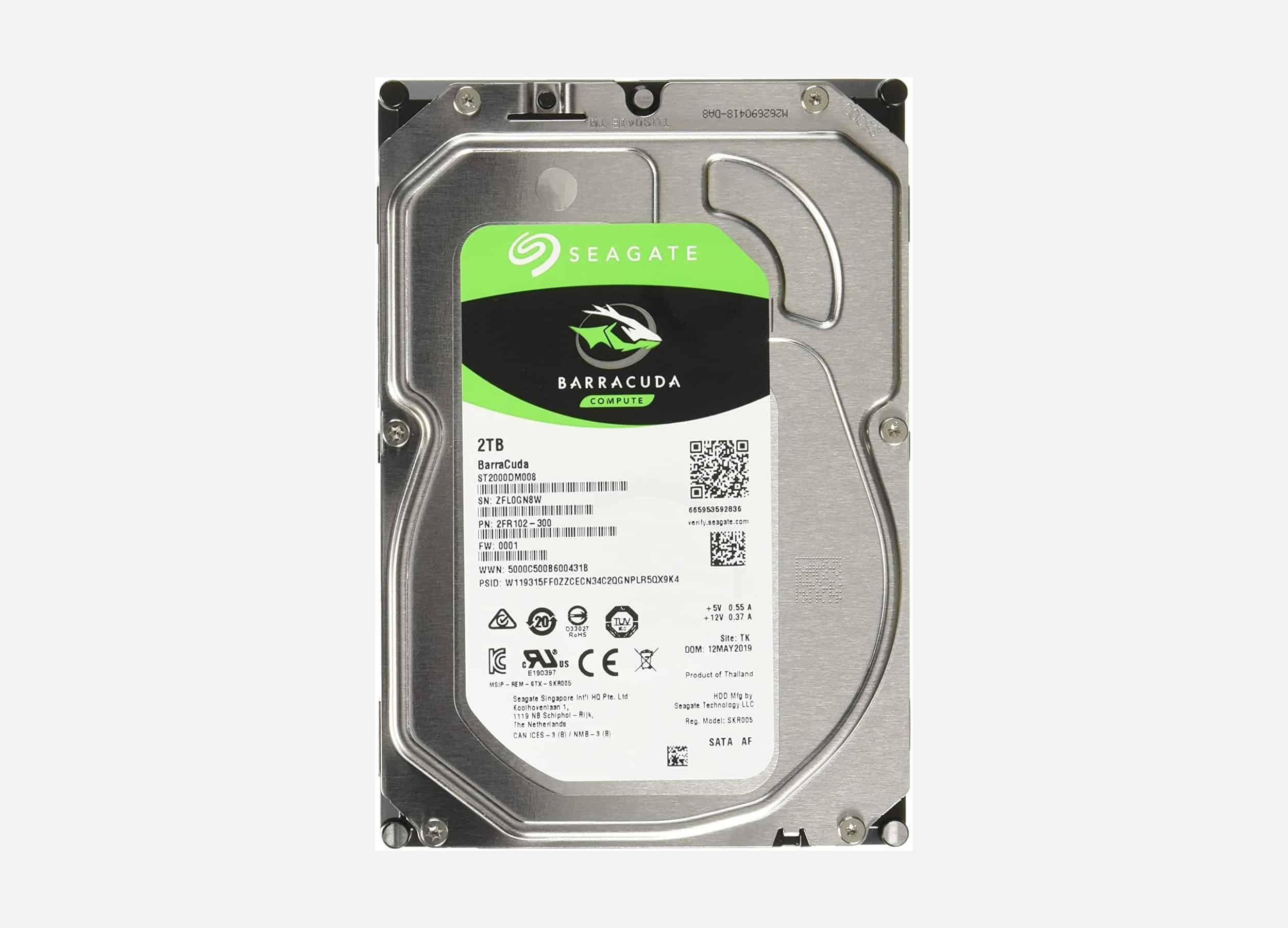 HDD Seagate BarraCuda 2TB 3.5