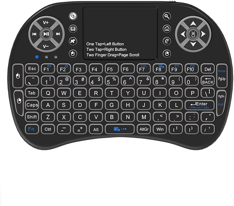 Atick Backlit Mini Keyboard Touchpad Mouse