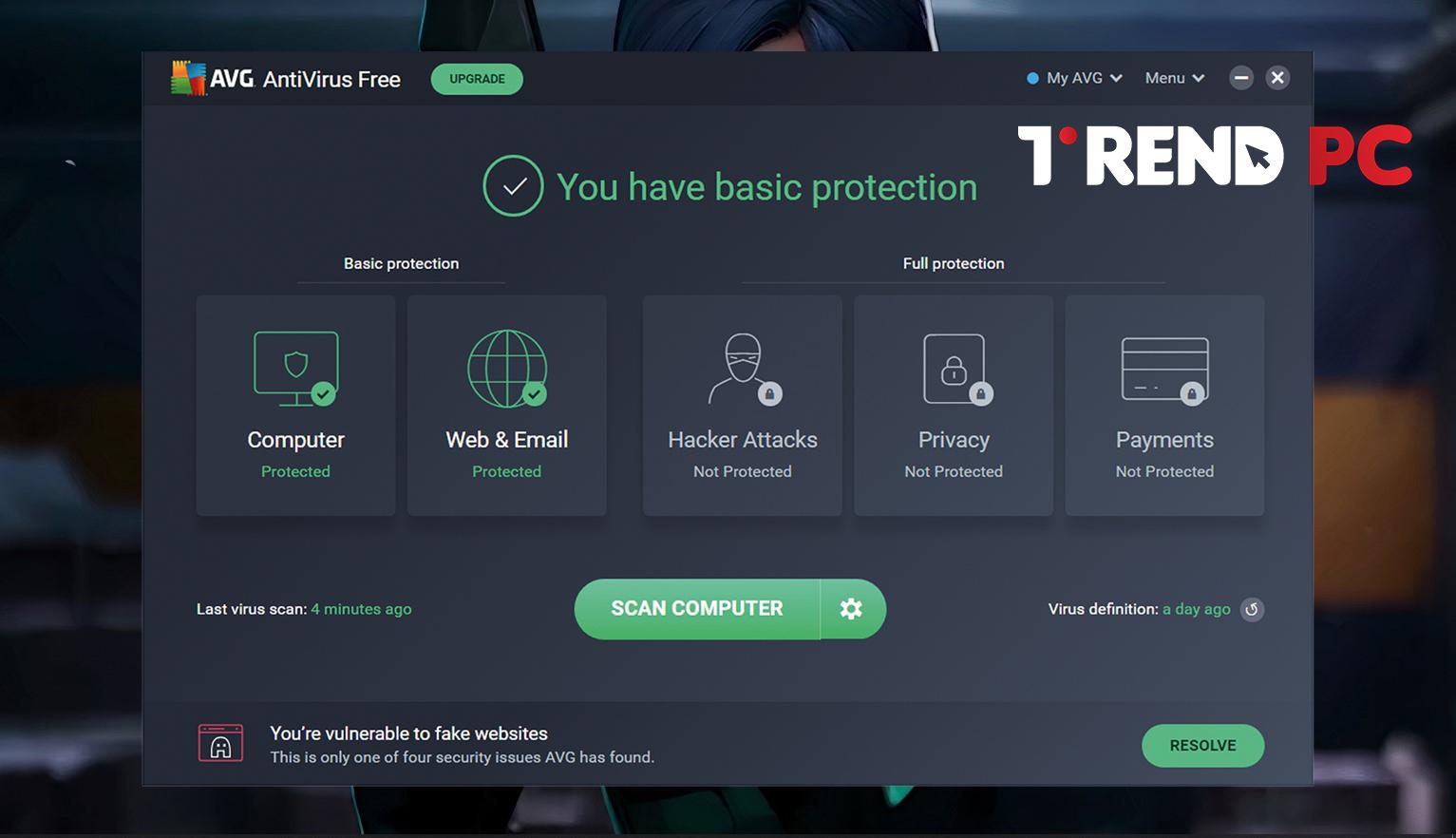 برنامج AVG Antivirus Free