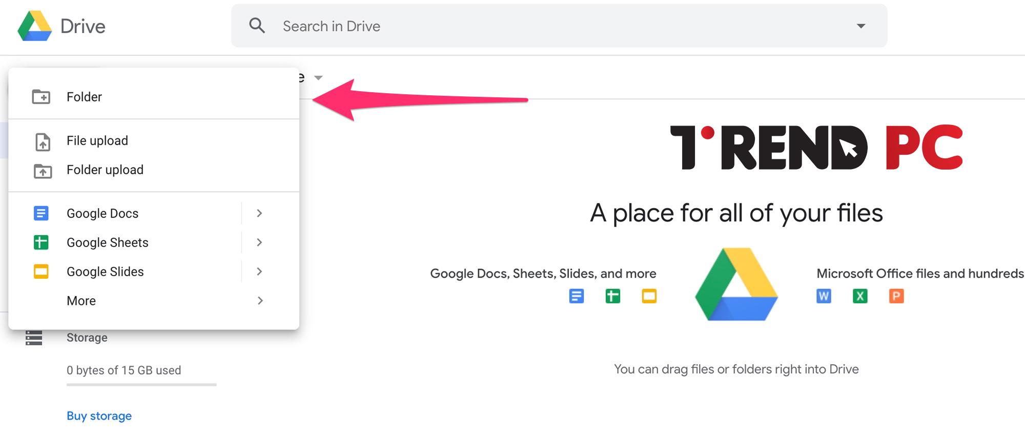إدارة وتنظيم الملفات والمجلدات google drive