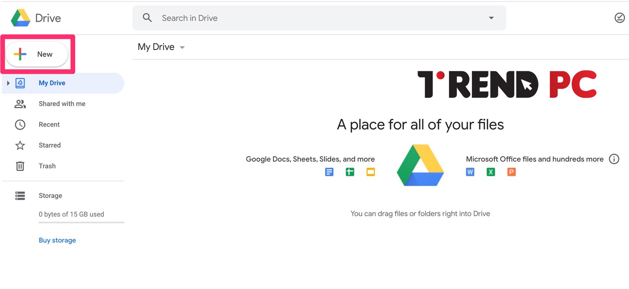 تحميل وإنشاء الملفات google drive